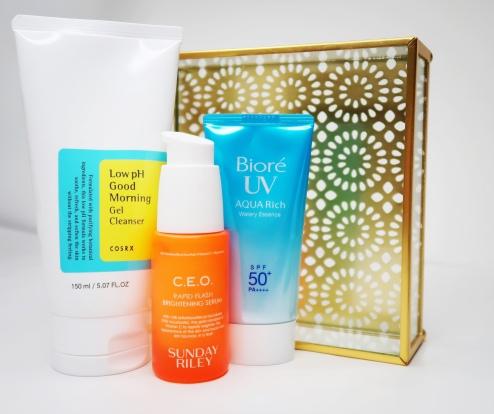 Cosrx Low ph good morning cleanser Biore Uv aqua rich sunscreen levitate Beauty